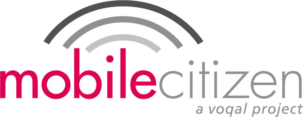 Image Description: Mobile Citizen Logo that includes the world Mobile Citizen in red and gray and three arches above the word that resemble a wi-fi icon.